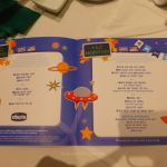 MSC Cruises children's menu (blue)