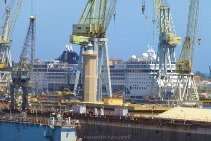MSC Opera in dry dock