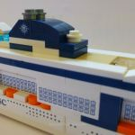 Side of the MSC Meraviglia LEGO model