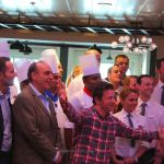 Jamie Oliver and Gennaro Contaldo opening Jamies Italian at Sea
