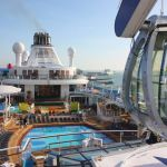 Pool deck on Quantum of the Seas