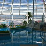 Inviting swimming pools in the Solarium