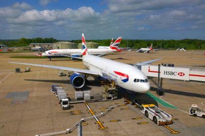 British Airways Airbus A320 at Gatwick