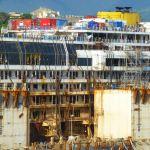 Costa Concordia rusting away