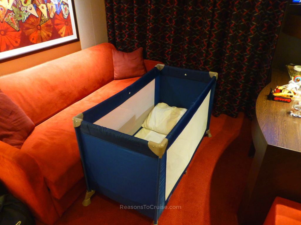 MSC-supplied Chicco travel cot