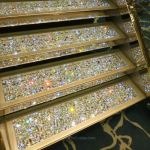 Swarovski staircase on MSC Preziosa