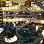 The atrium on MSC Preziosa