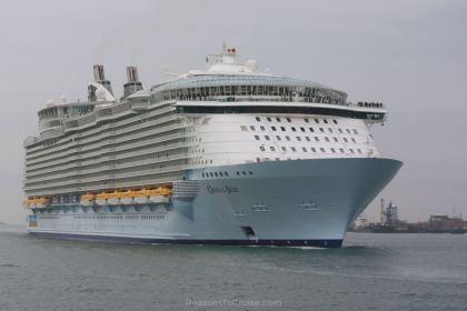 Oasis of the Seas in Southampton