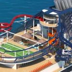 Rendering of water slides and splash park on MSC Seaview