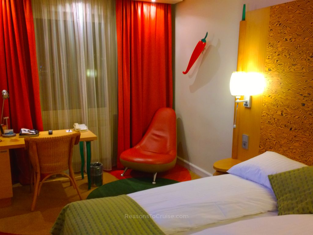 A chilli pepper-themed room at Radisson Blu Tromsø hotel