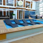 Loungers in The Haven on Norwegian Escape