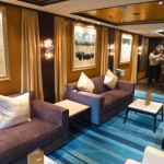 Seating in The Haven on Norwegian Escape