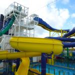 Water slides on Norwegian Escape