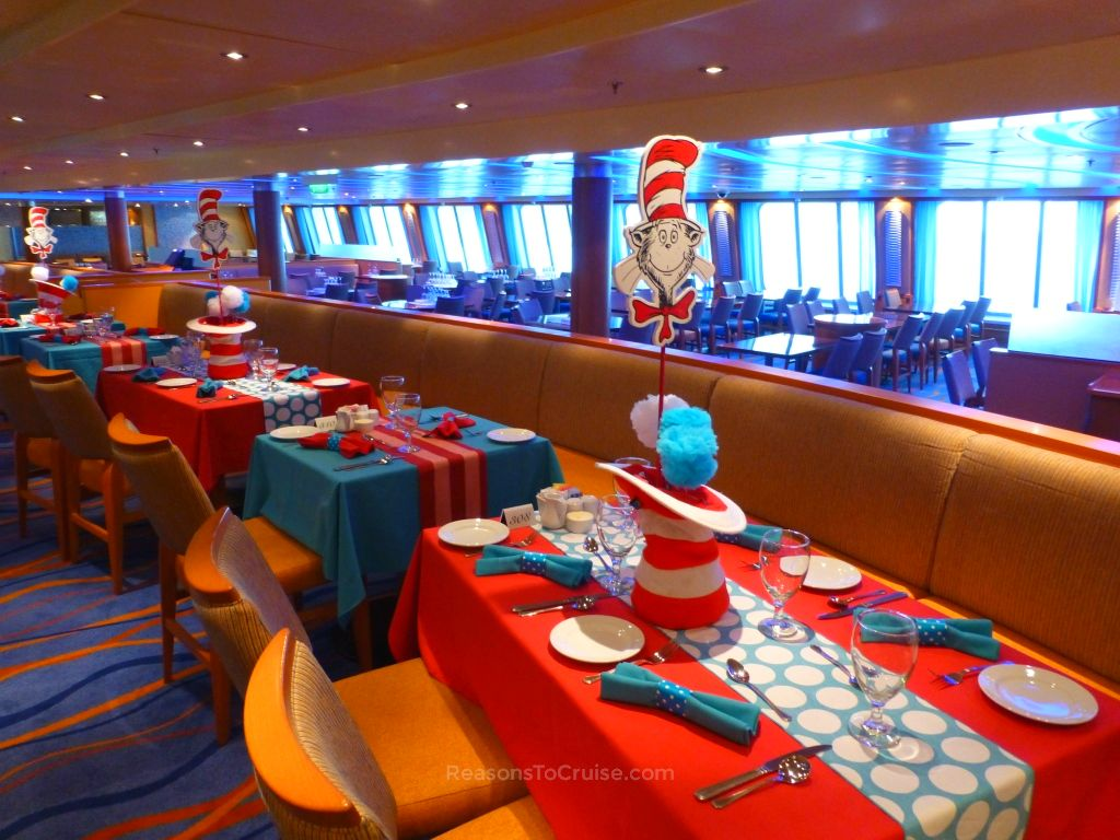 Seuss table decorations