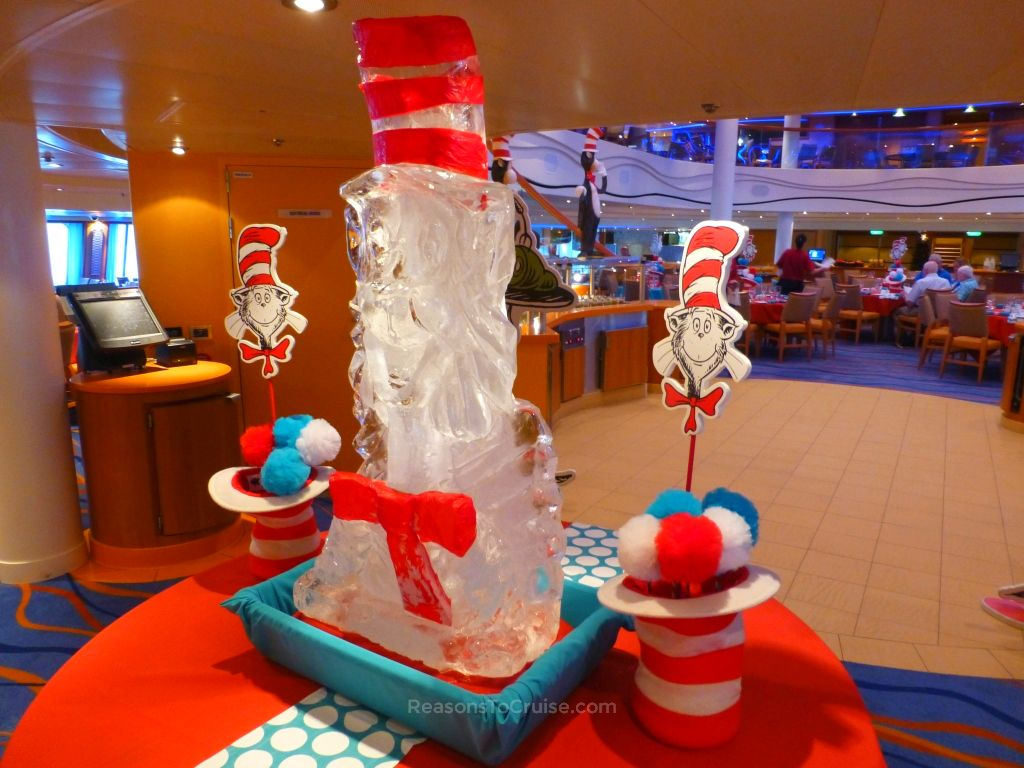 The Cat in the Hat ice sculpture