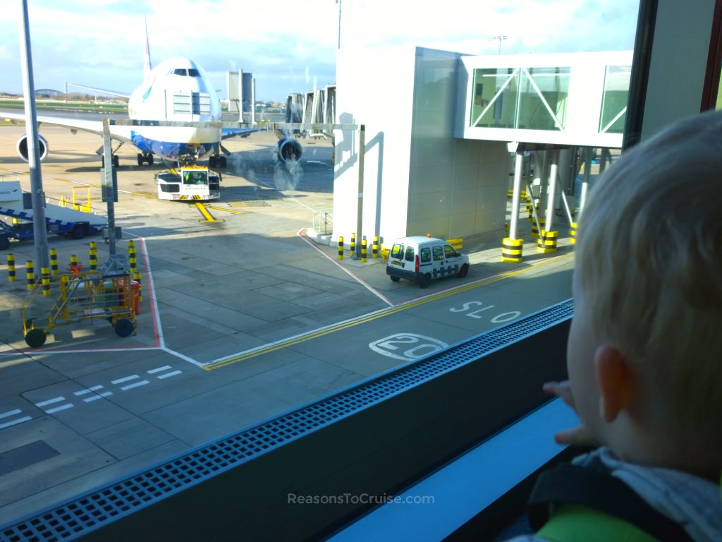 My son plane spotting
