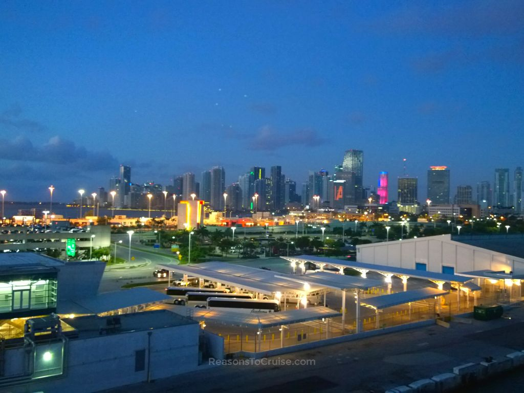 The Miami skyline from PortMiami