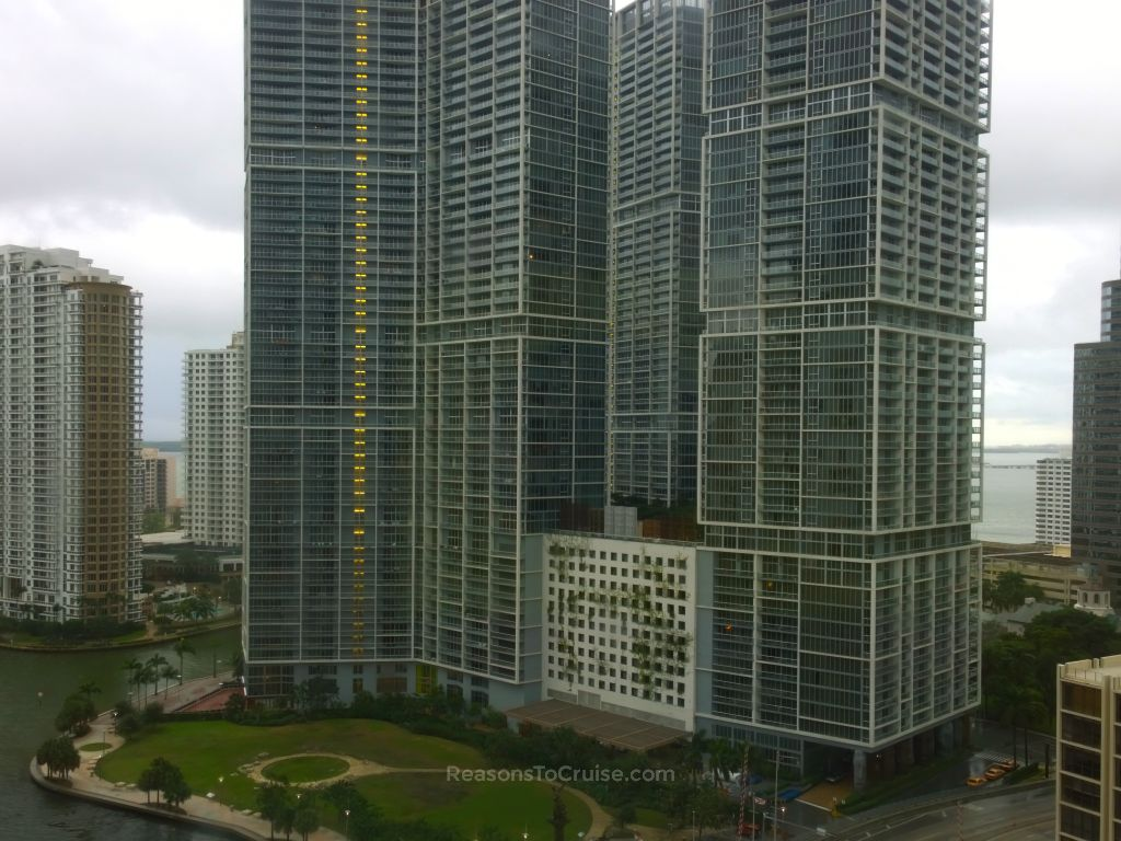 View from my room at the Hyatt Regency Hotel in Miami