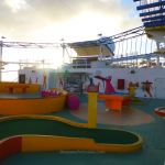 Minature golf and SkyCourse on Carnival Breeze