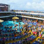 Poolside games on Carnival Breeze