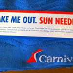 Quirky message on the towels on Carnival Breeze