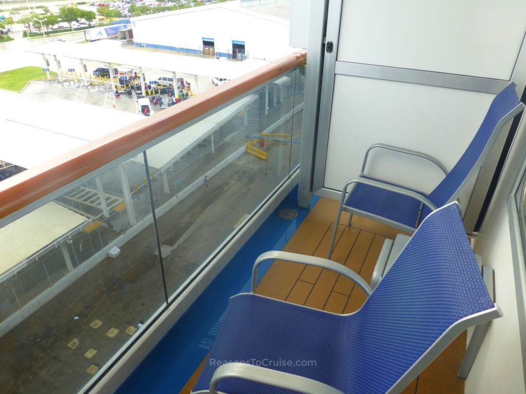 Carnival breeze balcony cabin 6212 review reasons to cruise for Pic of balcony