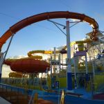 The slides at WaterWorks on Carnival Breeze