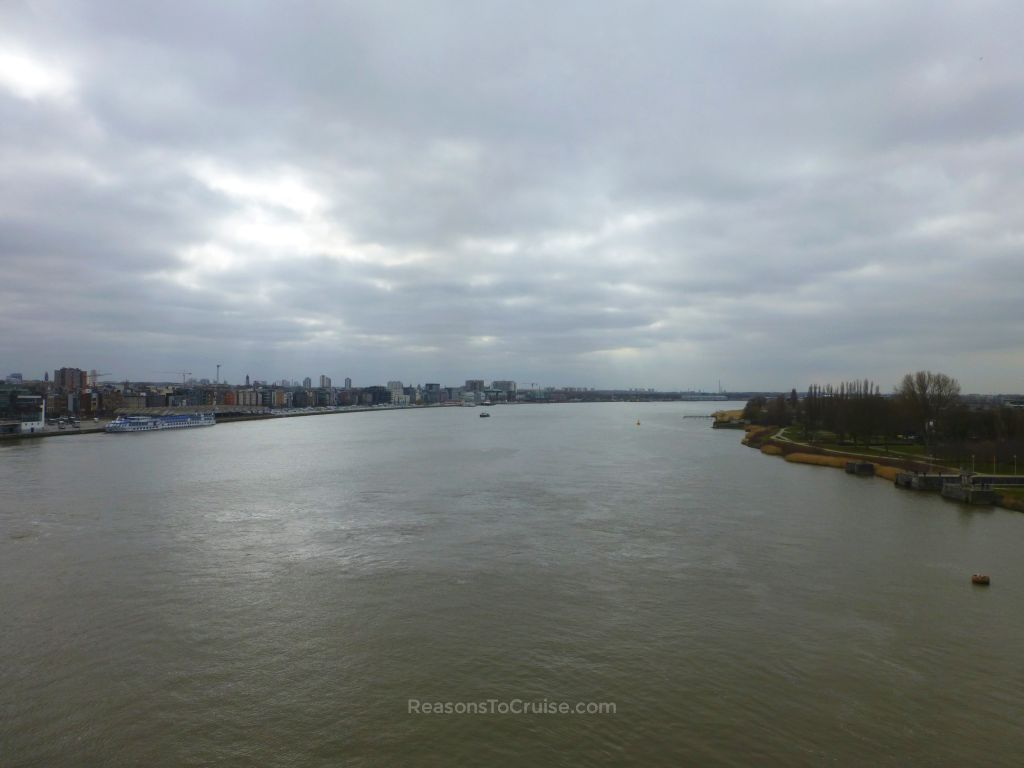 An amazing view down the Western Scheldt River from the upper deck of Balmoral