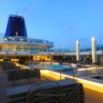 Britannia's Lido Deck by night