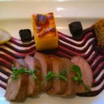 Loin of Wild Boar with a Smoked Pork Cheek Croquette and Lancashire Black Pudding