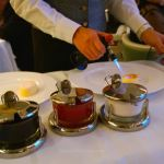 Tableside preparation of Crème Brûlée
