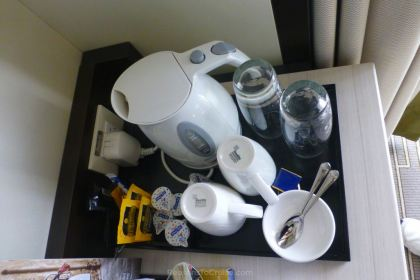 Tea and coffee making facilities in cabin F330