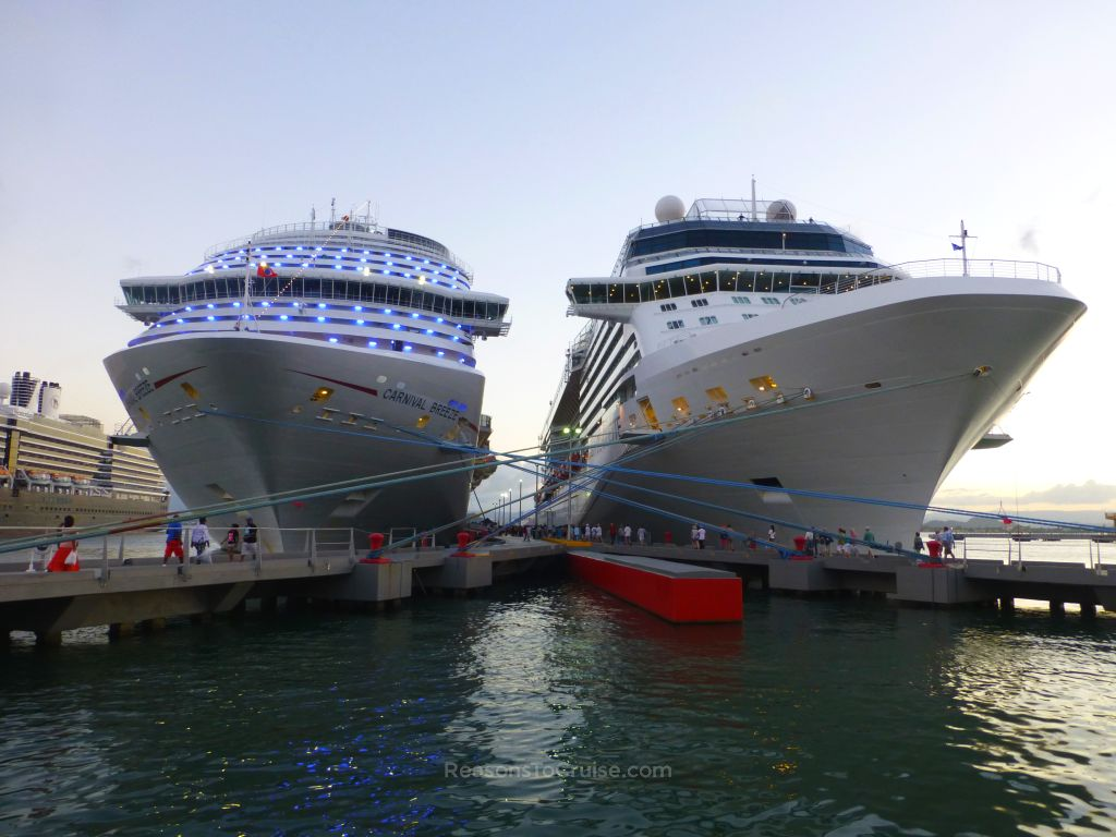 Carnival Breeze & Celebrity Silhouette in San Juan