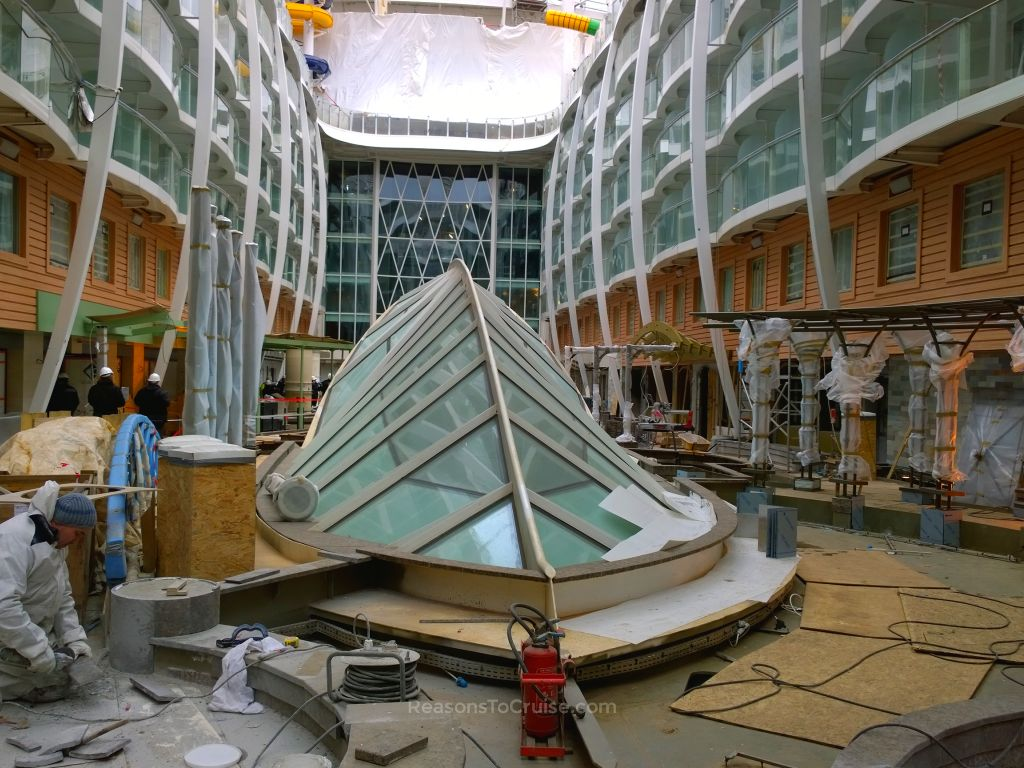 Harmony of the Seas under construction