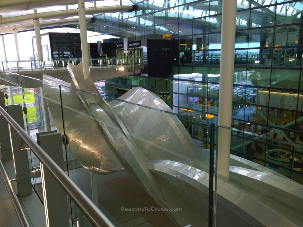 The main entrance to Heathrow Terminal 2