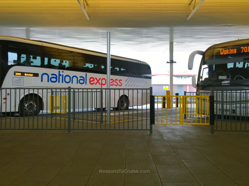 National Express coaches at Heathrow Airport
