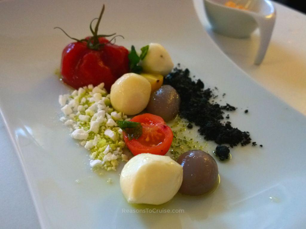 Reconstructed Caprese Salad