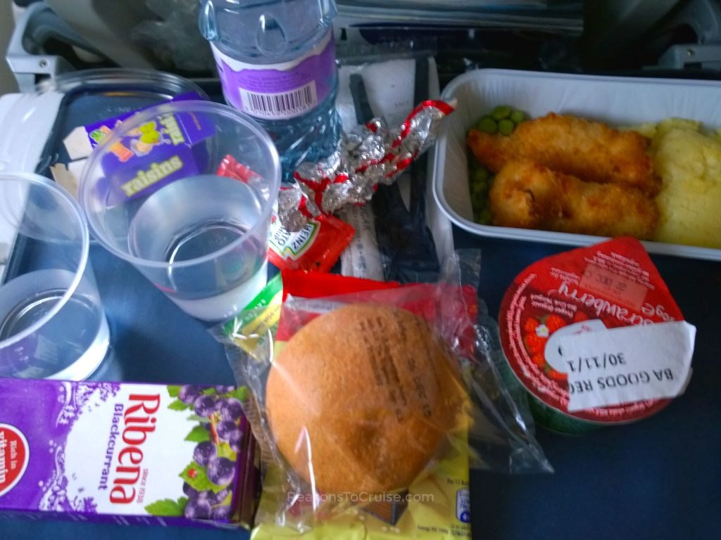 A children's meal on British Airways