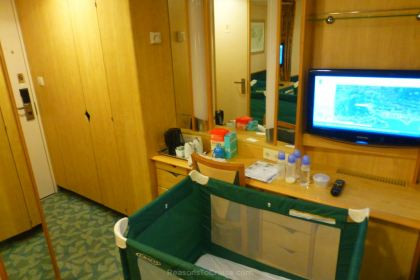Baby equipment on a cruise ship
