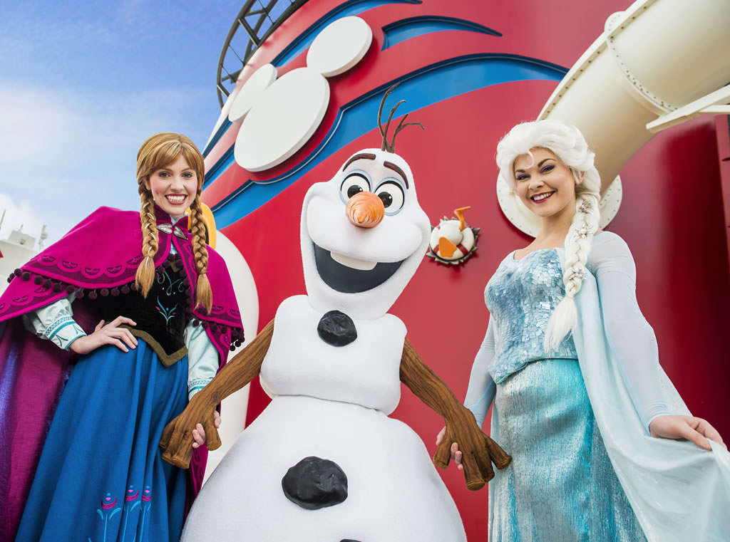 Frozen theme on Disney Cruise Line