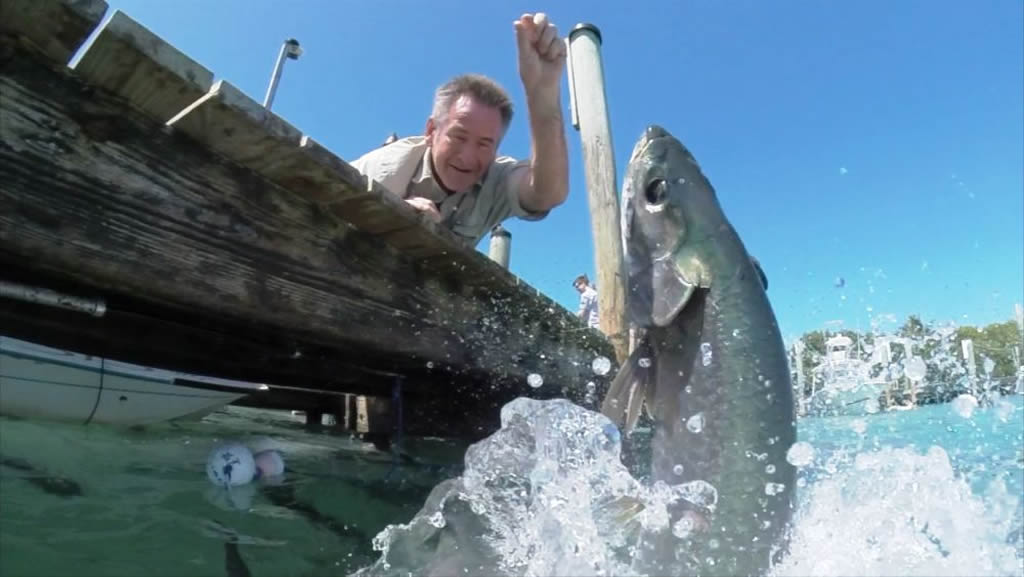 Nigel Marven with a tarpon