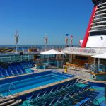 Pool deck on Disney Magic