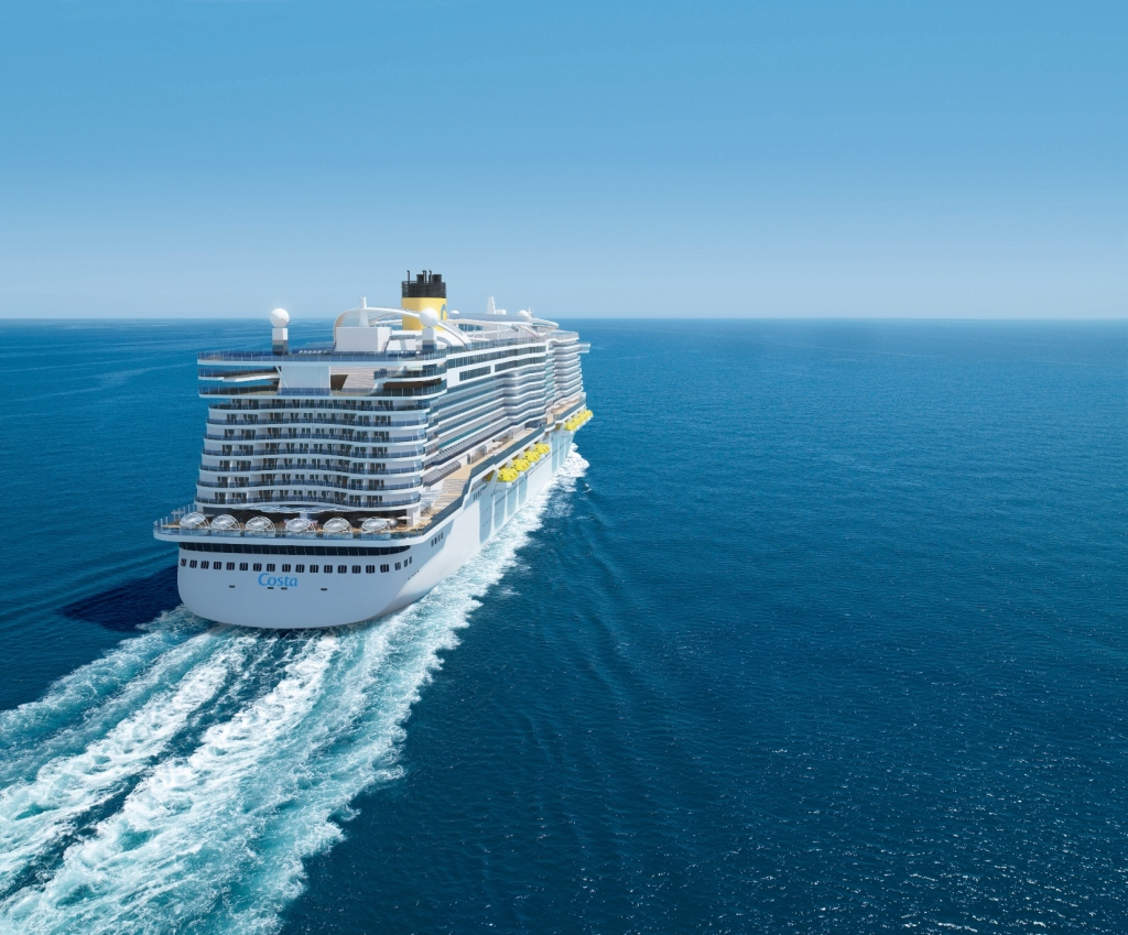 The aft of the new Costa Cruises ship