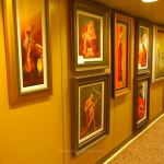 Art gallery on Caribbean Princess