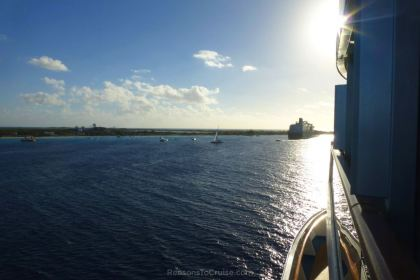 Carnival Breeze approaching Grand Turk