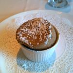 Chocolate-hazelnut soufflé on Caribbean Princess