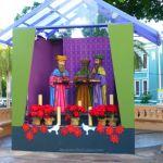 Christmas scene in Old Town Princesa, San Juan, Puerto Rico