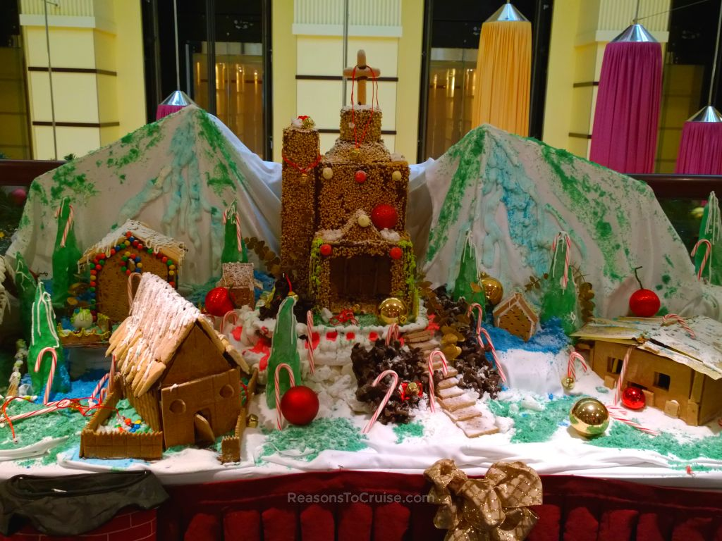 gingerbread house on carnival breeze po cruises - When Do Cruise Ships Decorated For Christmas