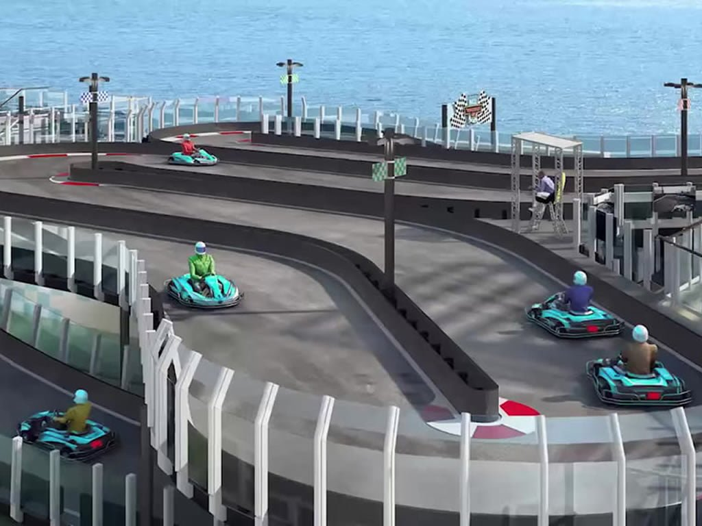 Go-Karts on Norwegian Joy