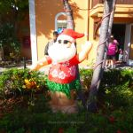 Inflatable Santa in Grand Turk
